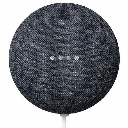 Assistente Google Home Nest Mini 2ª Geração - Smart Speaker com Google Assistente - Bluetooth 5.0 - Carvão - GA00781-BR