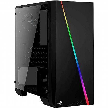 Gabinete Gamer Aerocool Cylon Mini - Frontal RGB - Lateral em Acrilico - Mini Tower - Preto