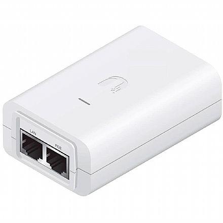 Fonte Injetor PoE Ubiquiti POE-24-12W-G BR - Gigabit - Energia e Dados através do cabo de Ethernet - Branco