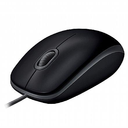Mouse USB Logitech M110 Silent - Clique Silencioso - Ambidestro - Preto - 910-005493