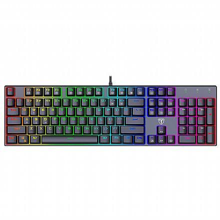 Teclado USB Gamer Mecânico T-Dagger Frigate - ABNT2 - Iluminação RGB - Switch Azul - T-TGK306-BL