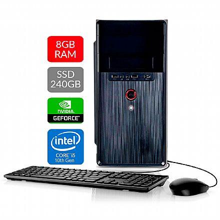 Computador Bits WorkHard - Intel i5 9400F, 8GB, SSD 240GB, Video GeForce, Kit Teclado e Mouse, FreeDos - 2 Anos de garantia