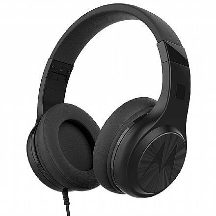 Fone de Ouvido Motorola Pulse 120 - Dobrável - Conector P2 - Preto - SH060
