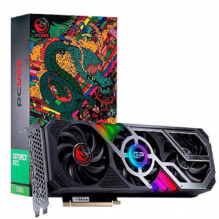 GeForce RTX 3080 10GB GDDR6X 320Bits Triple Fan - Pro Graffiti Series - PCYes PP3080GP10DR6320 - Selo LHR