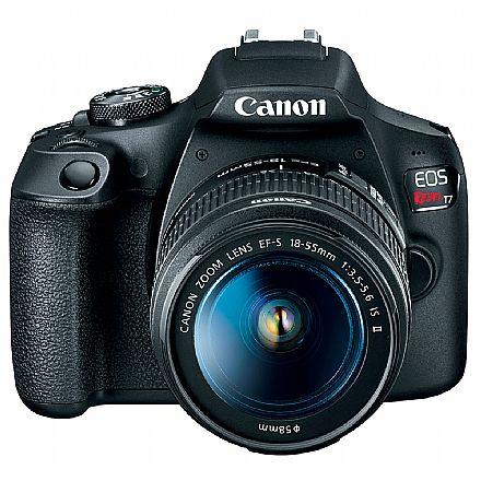Canon EOS Rebel T7 Plus - Profissional com Lente 18-55 - 24.1 Mega Pixels - Sensor CMOS APS-C - DIGIC 4+ - WI-Fi, NFC - 2727C089AA
