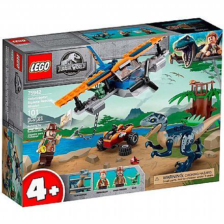 LEGO Jurassic World - Velociraptor: Missão de Resgate com Biplano - 75942