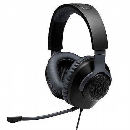 Headset Gamer JBL Quantum 100 - Conector P2 - JBLQUANTUM100BLK