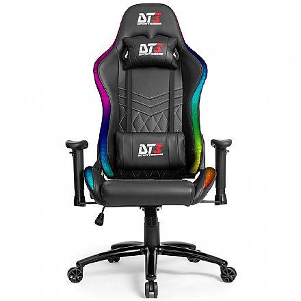 Cadeira Gamer DT3 Sports RGB Estelar Racing Series - Iluminação RGB - Encosto Reclinável de 180° - Construção em Aço - Preta - 11930-4