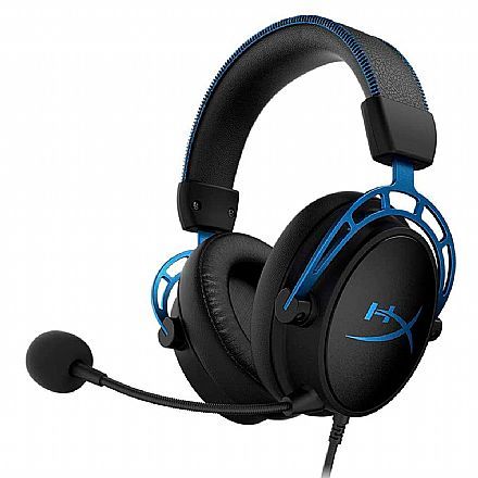 Headset Gamer Kingston HyperX Cloud Alpha S - Surround 7.1 - Cabo e Microfone Destacável - Conector P2 - HX-HSCAS-BLWW