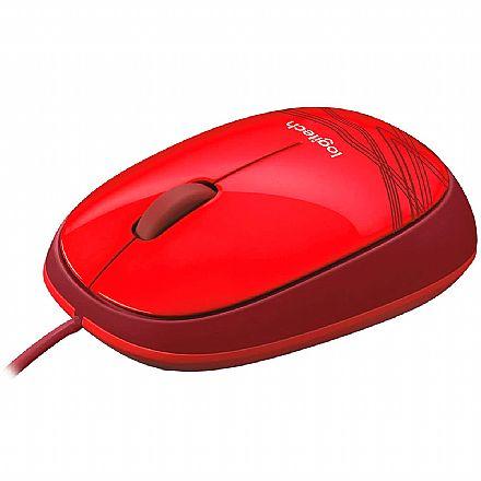 Mouse USB Logitech M105 - 1000dpi - Vermelho - 910-002959