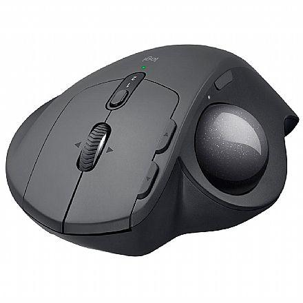 Mouse sem Fio Trackball Logitech MX Ergo - Bluetooth - Receptor Unifying USB - com Ajuste de Ângulo - 910-005177