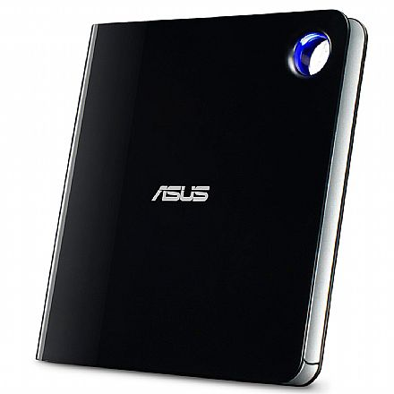 Gravador Blu-Ray e DVD Portátil Asus - USB 3.1 Tipo-C e Tipo-A - Ultra Slim - SBW-06D5H-U