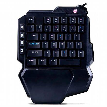 Mini Teclado USB Gamer Mecânico Dazz Shuriken - Switch Azul - LED RGB - 62000020