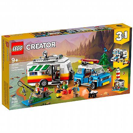 LEGO Creator - Modelo 3 Em 1: Férias em Família no Trailer - 31108