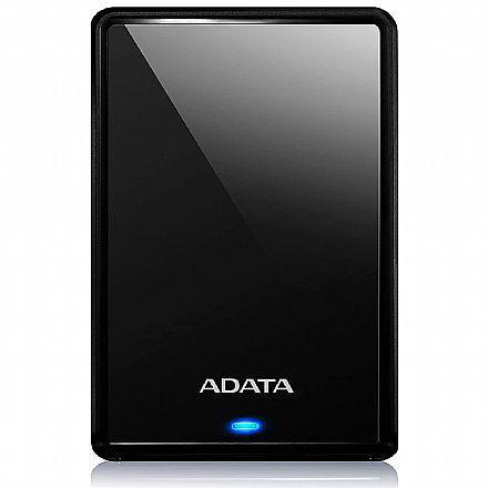 HD Externo 4TB Portátil Adata HV620S - Design Slim - USB 3.2 - Preto - AHV620S-4TU31-CBK