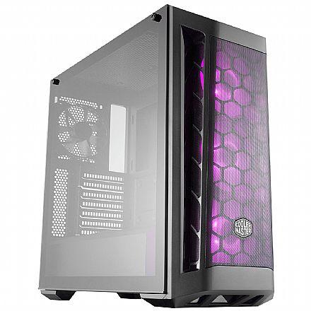 Gabinete Cooler Master Masterbox MB511 - RGB - Lateral em Vidro Temperado - com Controlador e 3 Coolers RGB - Mid Tower - MCB-B511D-KGNN-RGB