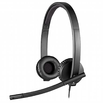 Headset Logitech H570E - com Microfone - USB - 981-000574