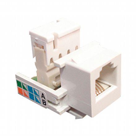 Conector Femêa RJ11 Tipo IDC - Branco