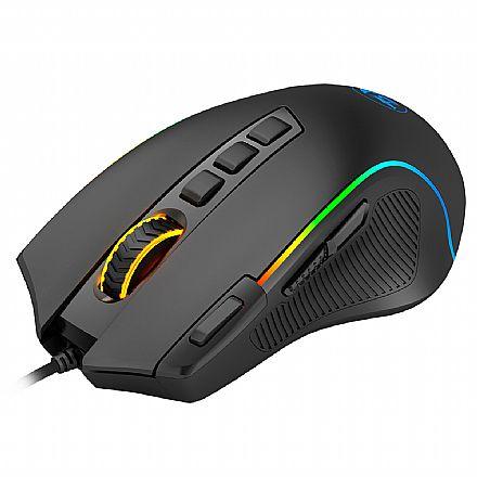 Mouse Gamer Redragon Predator - 8000dpi - Chroma RGB - 9 Botões - M612-RGB