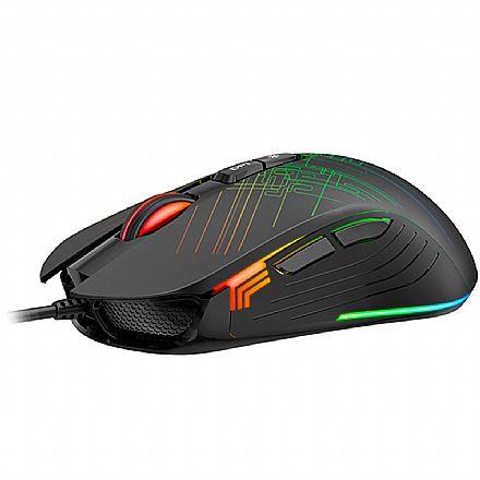 Mouse Gamer Havit MS1019 - 6400dpi - 7 Botões - RGB - HV-MS1019