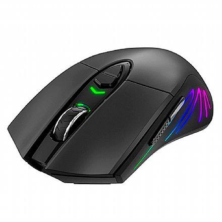 Mouse Gamer sem Fio Havit - 7000dpi - 7 Botões - Iluminação RGB - HV-MS1021W