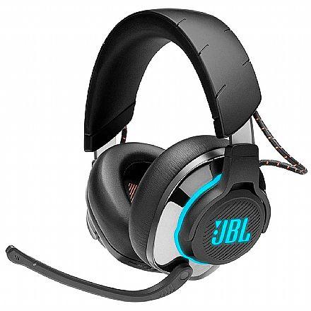 Headset Gamer Bluetooth JBL Quantum 800 - para Console e PC - Over Ear - RGB - JBLQUANTUM800BLK