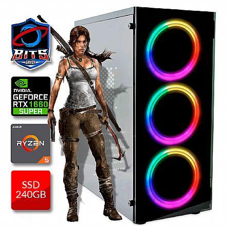 PC Gamer Bits 2021 - Ryzen 5, 8GB, SSD 240GB, Video GeForce GTX 1660 Super - Powered by Asus