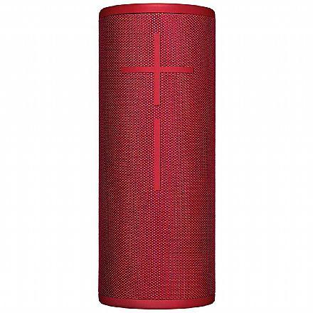 Caixa de Som Portátil Logitech Ultimate Ears Boom 3 - Som 360° - Bluetooth - À Prova Dágua - Vermelha - 984-001358