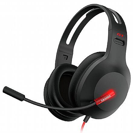 Headset Gamer Edifier G1 - com Microfone - USB - G1-USB-BK