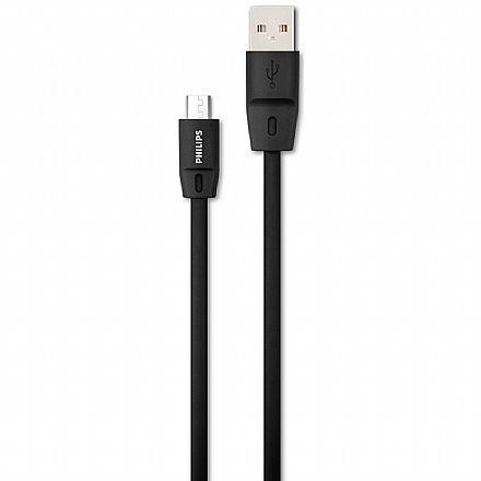 Cabo Micro USB para USB - 1.8 metro - Philips DLC2519CB/97