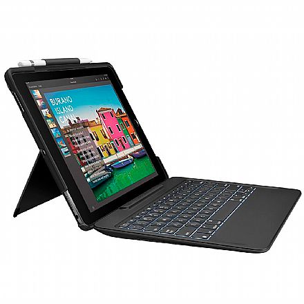 """Slim Combo Logitech - Capa e Teclado Iluminado Destacável para iPad Pro 10.5"""" - Conectado pelo Smart Connector - 920-008376"""