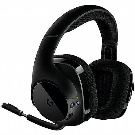 Headset Gamer Sem Fio Logitech G533 - 7.1 Surround - Drivers Pro-G - 981-000633