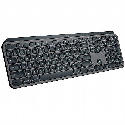 Teclado sem Fio Logitech MX Keys - Bluetooth - Receptor Unifying USB - Iluminação Inteligente - 920-009297
