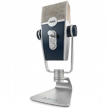 Microfone Condesador Profissional AKG Lyra - USB - Áudio Ultra-HD Quadridirecional - Sistema Adaptativa com 4 Cápsulas - C44-USB