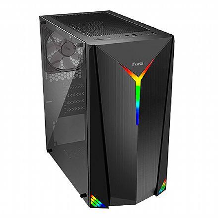 Gabinete Gamer Akasa Apache Flare - Frontal RGB - Lateral em Vidro Temperado - A-ATX08-A1B