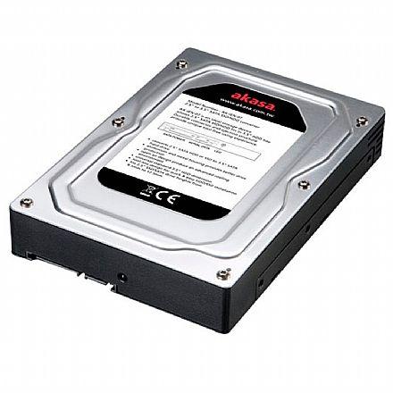 """Conversor de SSD ou HD 2.5"""" para HD 3.5"""" - Converte SSD ou HD 2.5"""" para HD 3.5"""" - Akasa AK-IEN-07"""