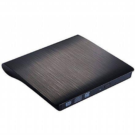 Gravador DVD Externo Slim Bluecase - Portátil - USB 3.0 - BGDE-04