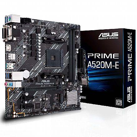 Asus Prime A520M-E - (AM4 - DDR4 4600 O.C) - Chipset AMD A520 - USB 3.2 - Slot M.2 - Micro ATX