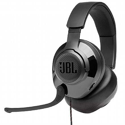 Headset Gamer JBL Quantum 200 - para Console e PC - Conector 3.5mm - Over Ear - JBLQUANTUM200BLK