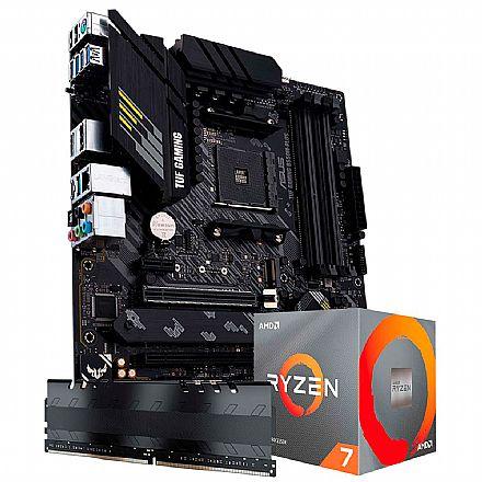 Kit Upgrade AMD Ryzen™ 7 5800X + Asus TUF GAMING B550M-PLUS + Memória 8GB DDR4