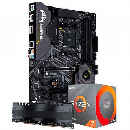 Kit Upgrade AMD Ryzen™ 7 5800X + Asus TUF X570-PLUS/BR GAMING + Memória 8GB DDR4