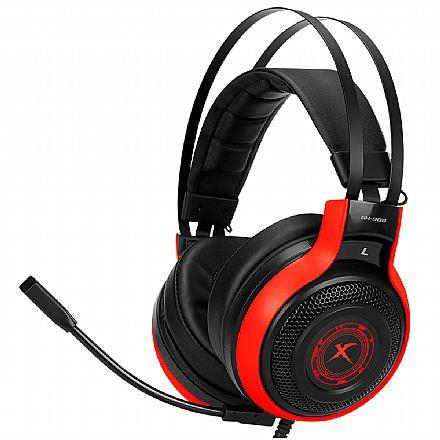 Headset Gamer Xtrike Blacklit GH-908 - 7.1 Surround - Conector USB e P2