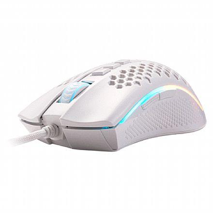 Mouse Gamer Redragon Storm Lunar - 12400dpi - 7 Botões Programáveis - RGB - Branco - M808W-RGB