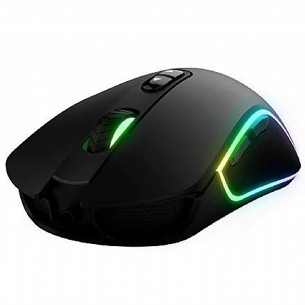 Mouse Gamer KWG Orion P1 - 1200dpi - 7 Botões - RGB