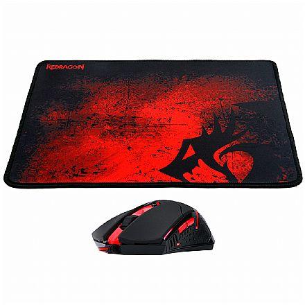 Kit Mouse e Mousepad Gamer Redragon M601-BA - 3200dpi - Pad 30 x 26cm