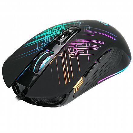 Mouse Gamer Xtrike ME GM-510 - 6400dpi - 7 Botões - RGB