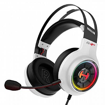 Headset Gamer Edifier G4 TE Hecate - Surround 7.1 - Drivers 50mm - Microfone Destacável - RGB - USB - Branco