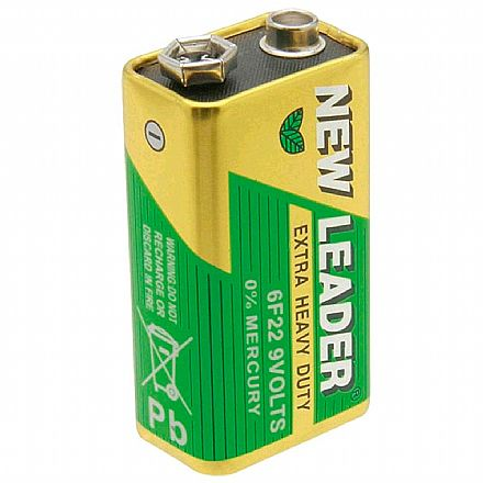 Bateria 9V New Leader
