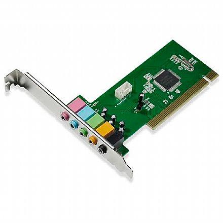 Placa de Som PCI 5.1 Canais - 32bits