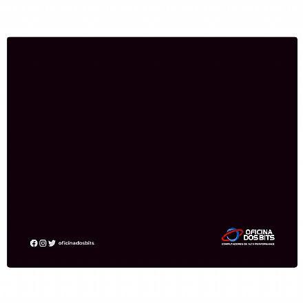 Mousepad Bits Preto - Pequeno: 220 x 175mm